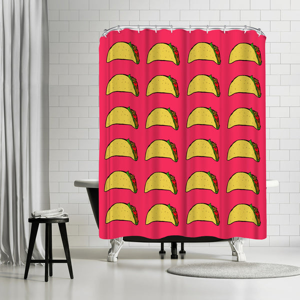 Taco Party by Leah Flores Shower Curtain