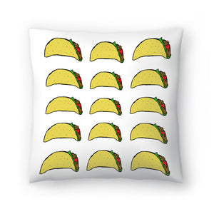 Taco Party 2 by Leah Flores  Decorative Pillow