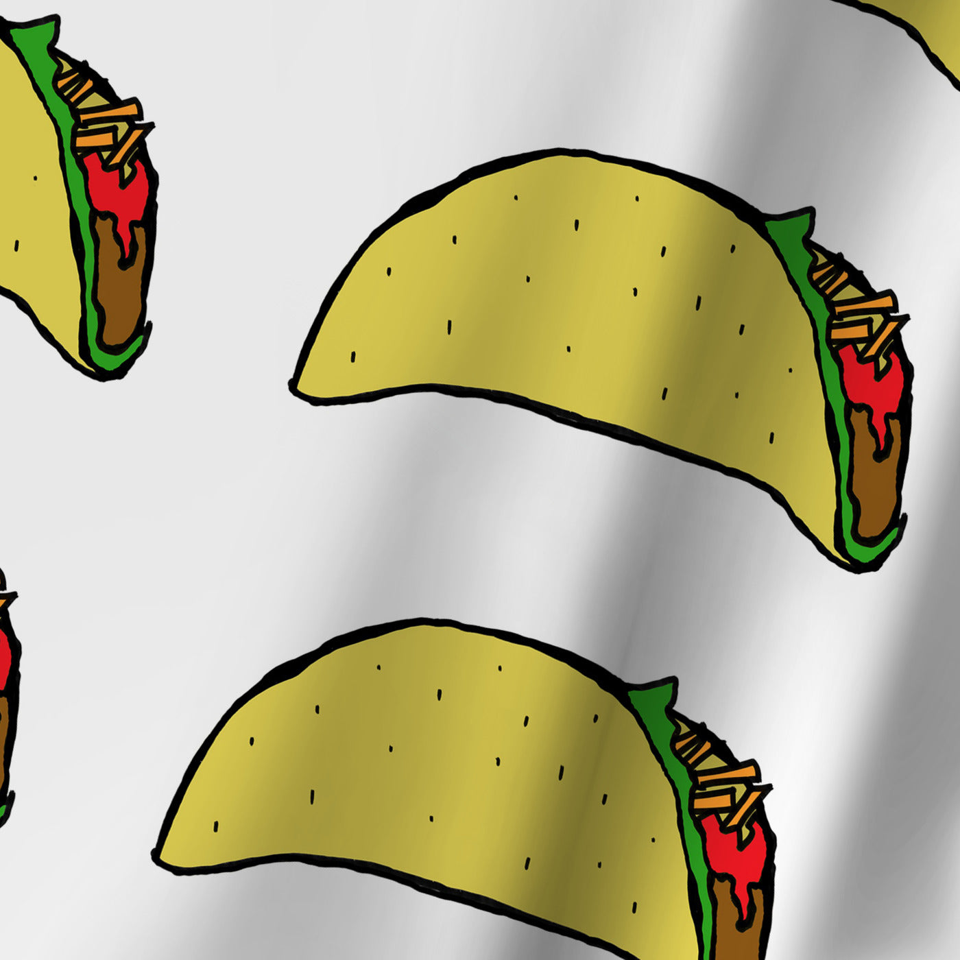 Taco Party 2 by Leah Flores Shower Curtain -  - Americanflat