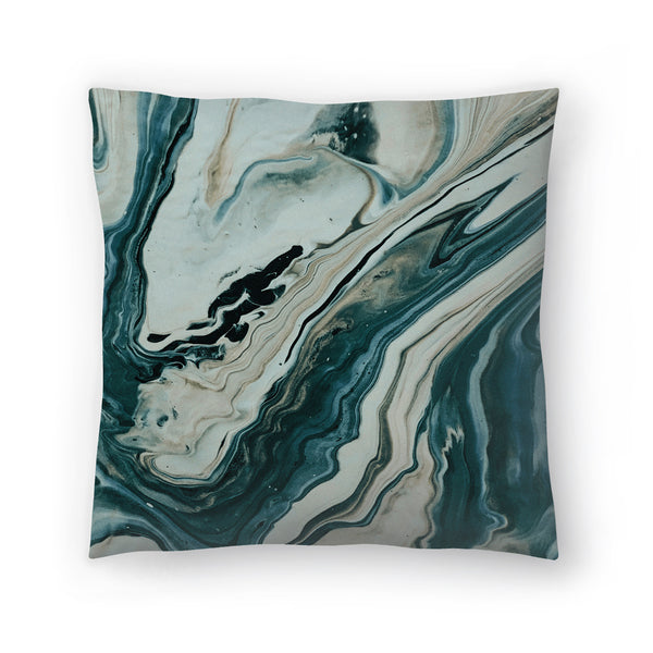 Tranquil Arctic Marble by Leah Flores  Decorative Pillow