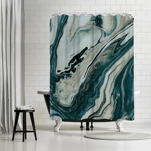 Tranquil Arctic Marble by Leah Flores Shower Curtain