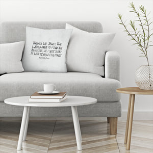 Travel Beautiful by Leah Flores  Decorative Pillow
