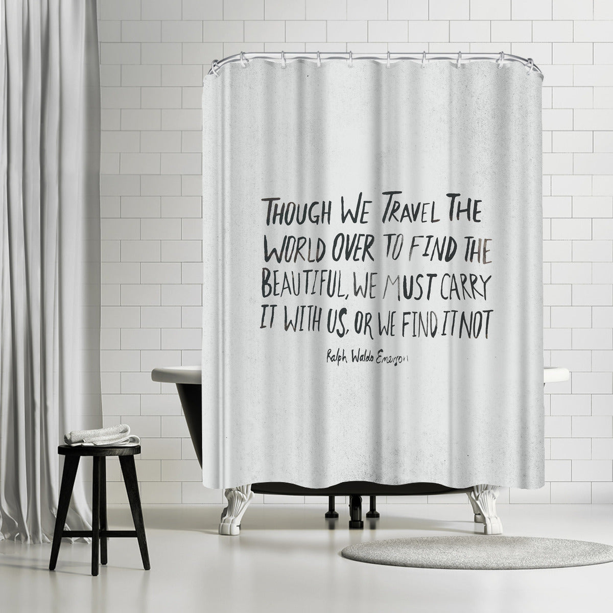 Travel Beautiful by Leah Flores Shower Curtain -  - Americanflat