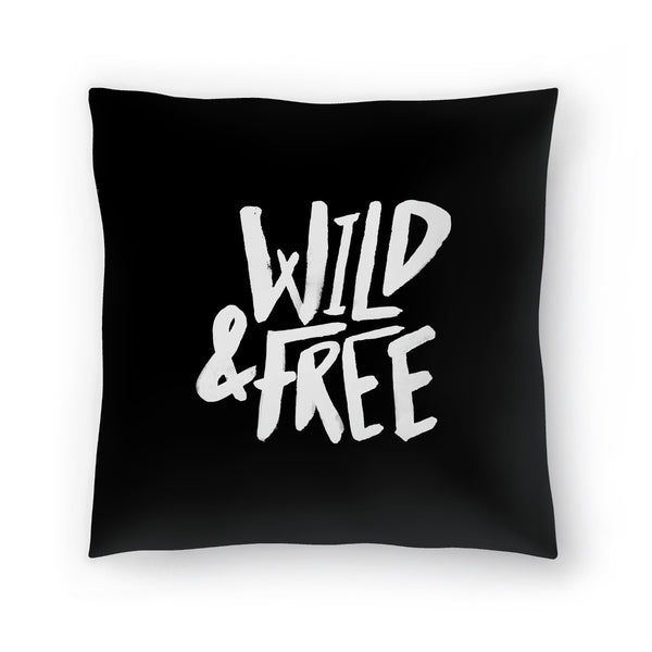 Wild & Free by Leah Flores  Decorative Pillow