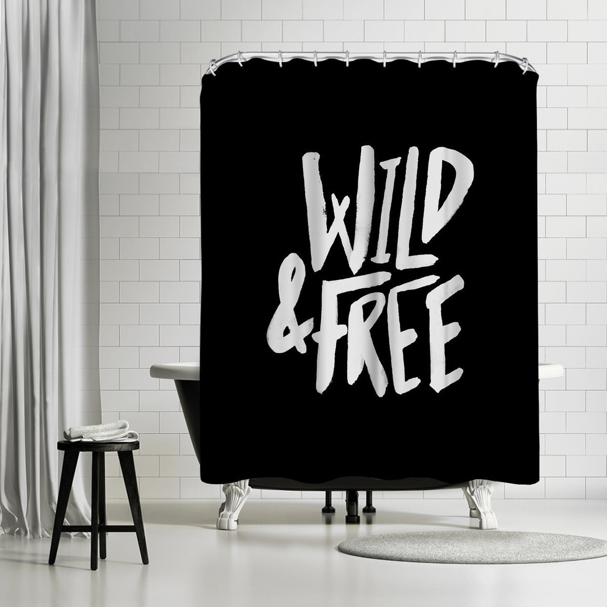 Wild & Free by Leah Flores Shower Curtain -  - Americanflat