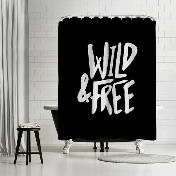 Wild & Free by Leah Flores Shower Curtain