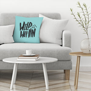 Wild Woman by Leah Flores  Decorative Pillow