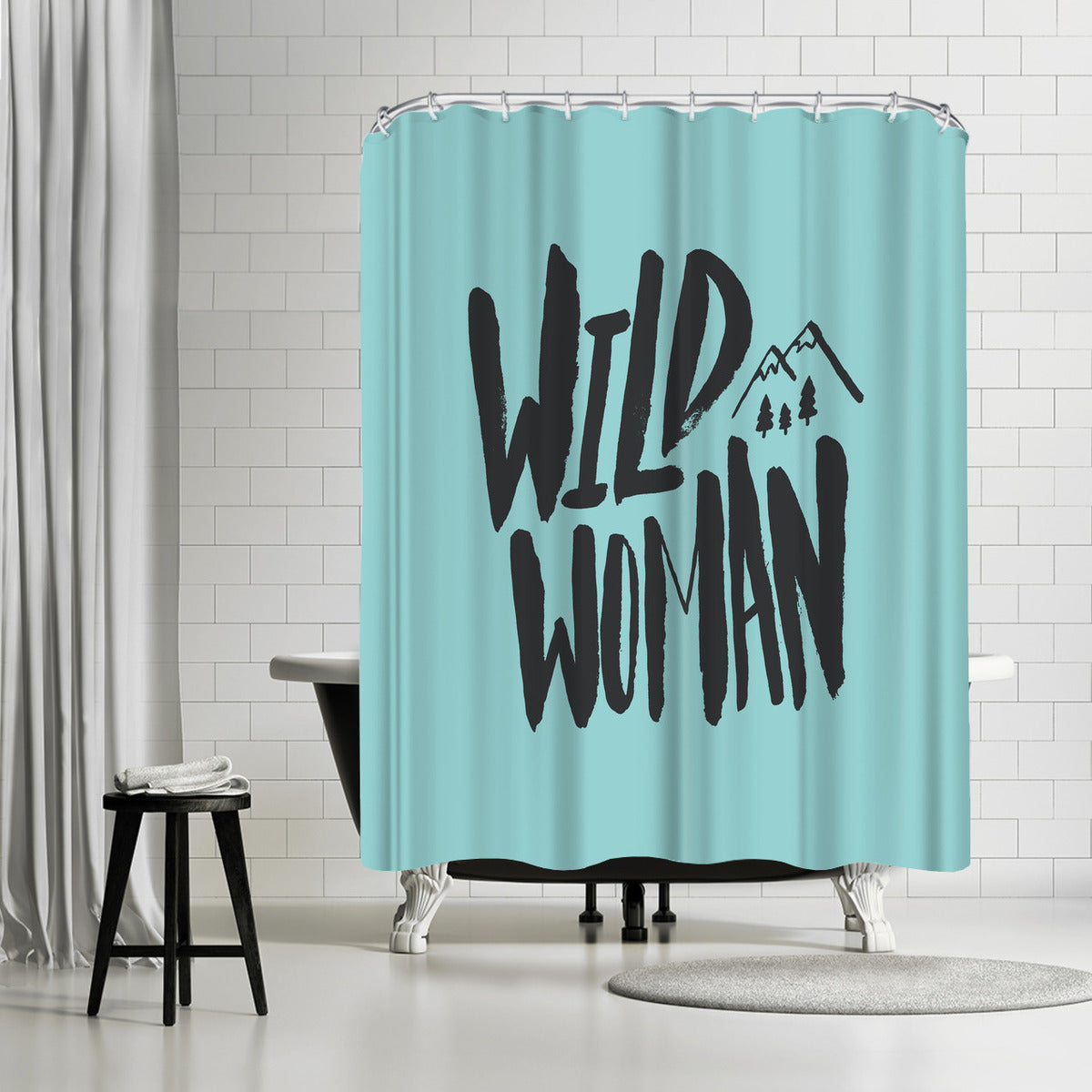 Wild Woman by Leah Flores Shower Curtain -  - Americanflat