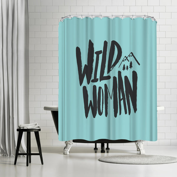 Wild Woman by Leah Flores Shower Curtain