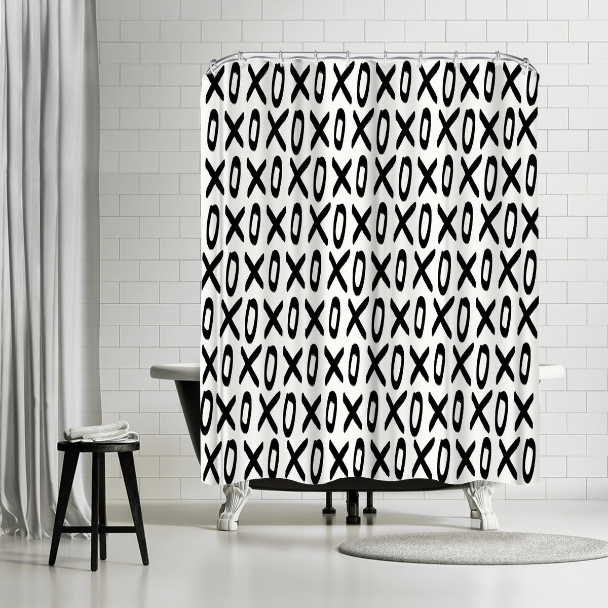 Xoxo by Leah Flores Shower Curtain