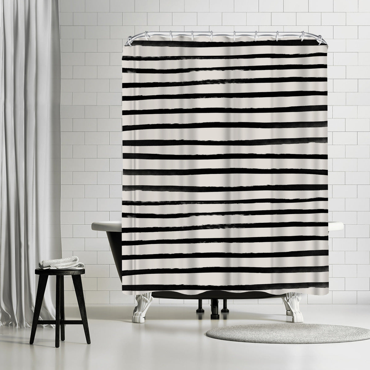Zebra by Leah Flores Shower Curtain - Shower Curtain - Americanflat