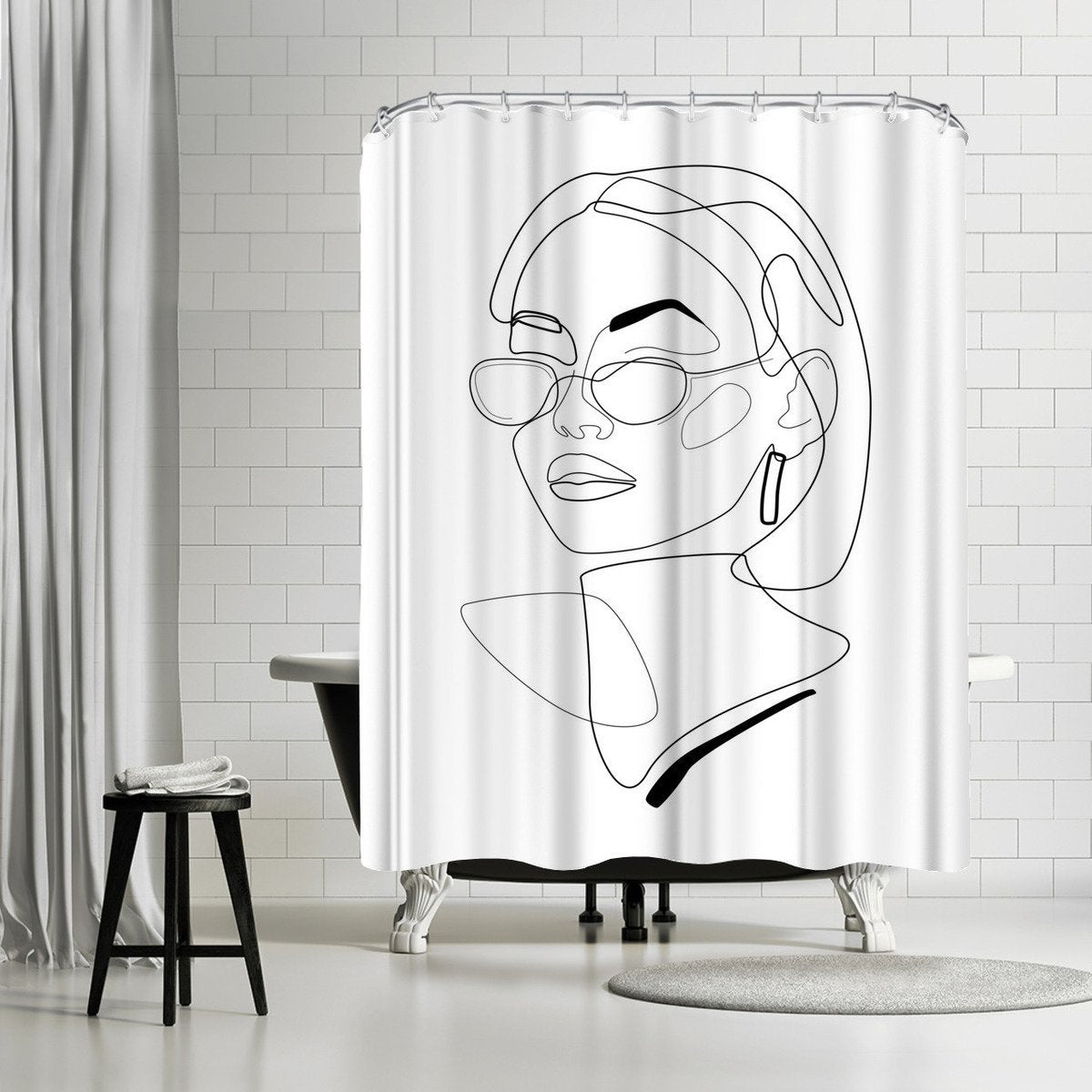 90s Look by Explicit Design Shower Curtain - Shower Curtain - Americanflat