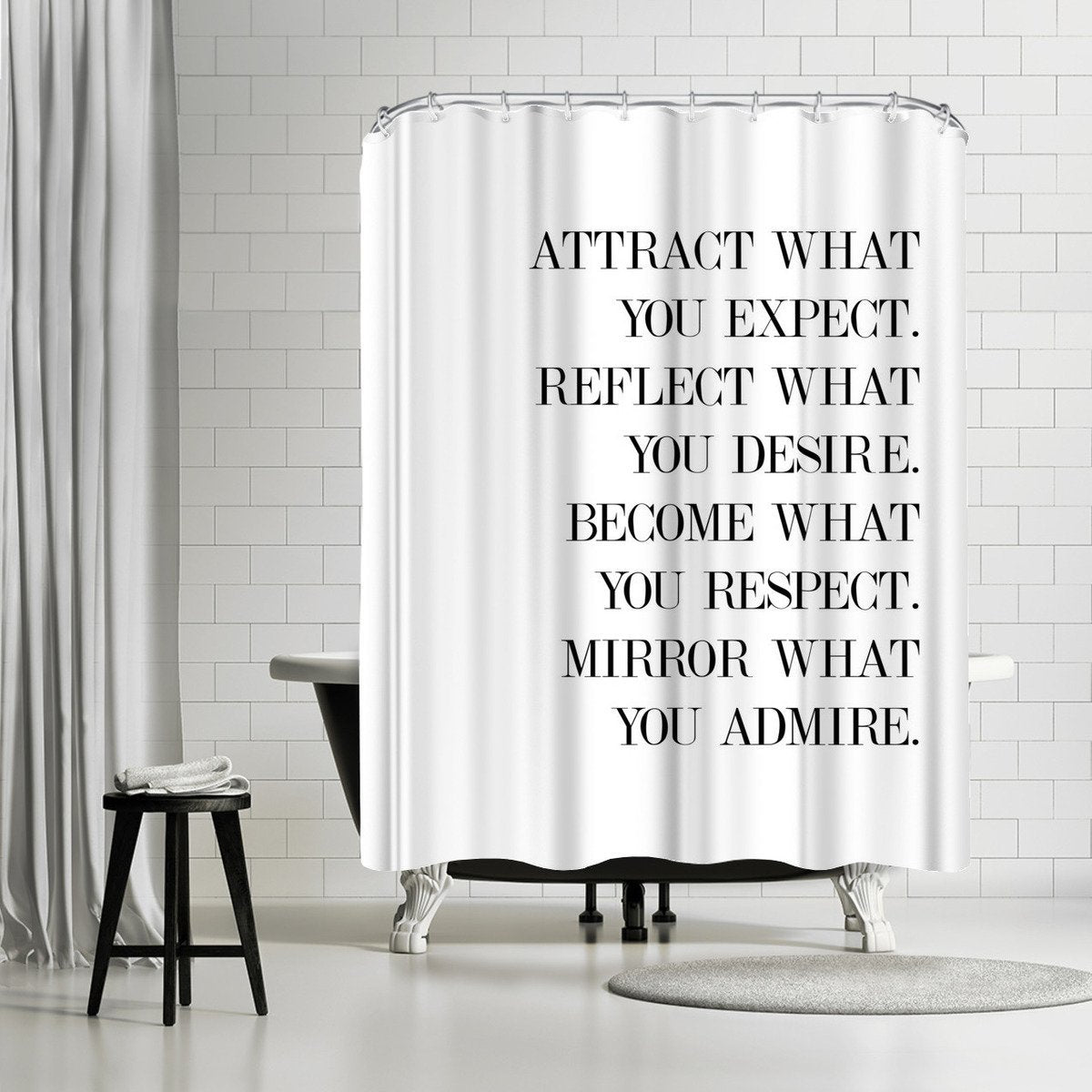 Believe by Explicit Design Shower Curtain - Shower Curtain - Americanflat