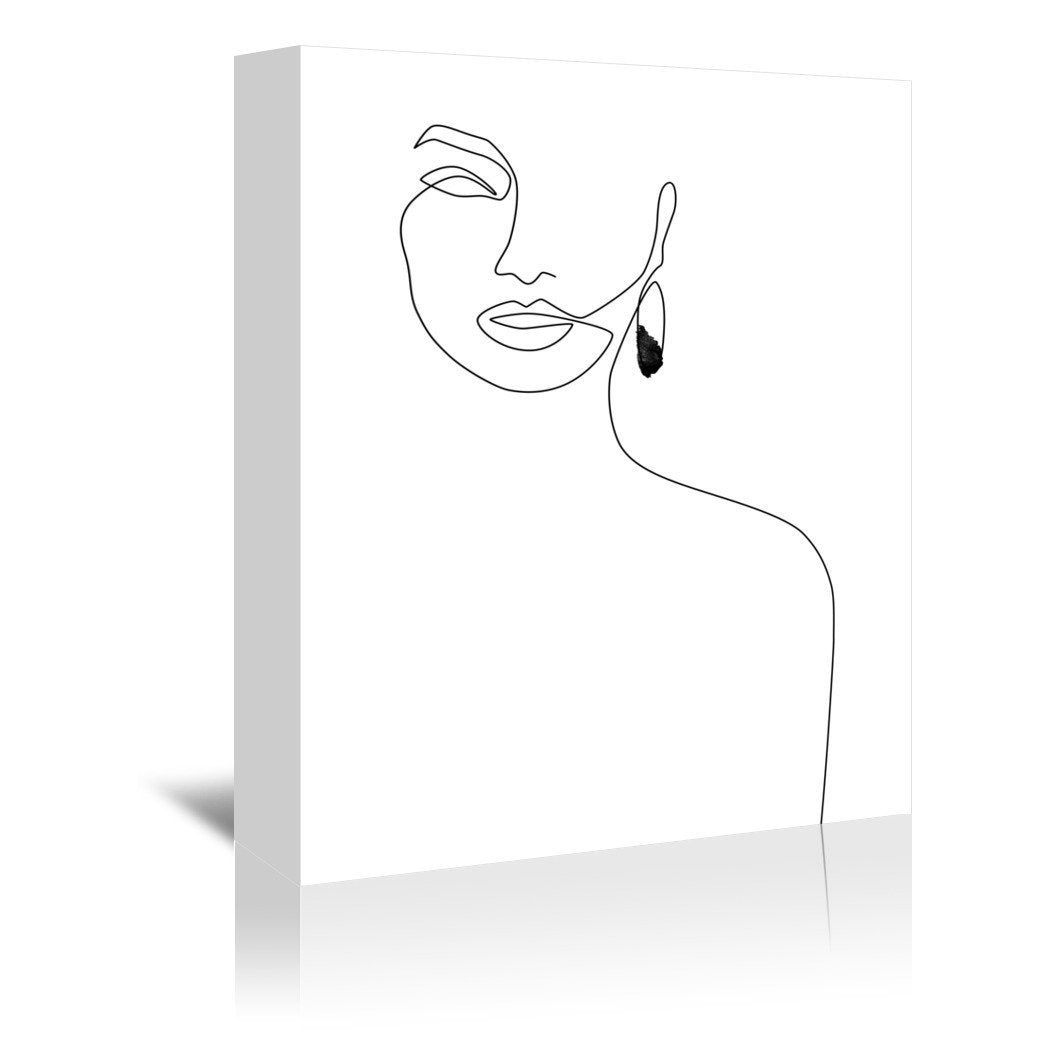 Black Earring by Explicit Design Wrapped Canvas - Wrapped Canvas - Americanflat