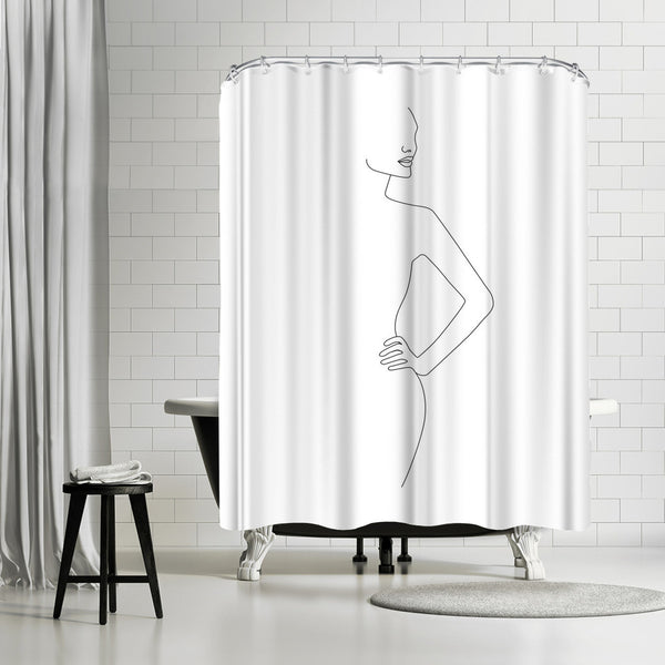 Body Profile by Explicit Design Shower Curtain