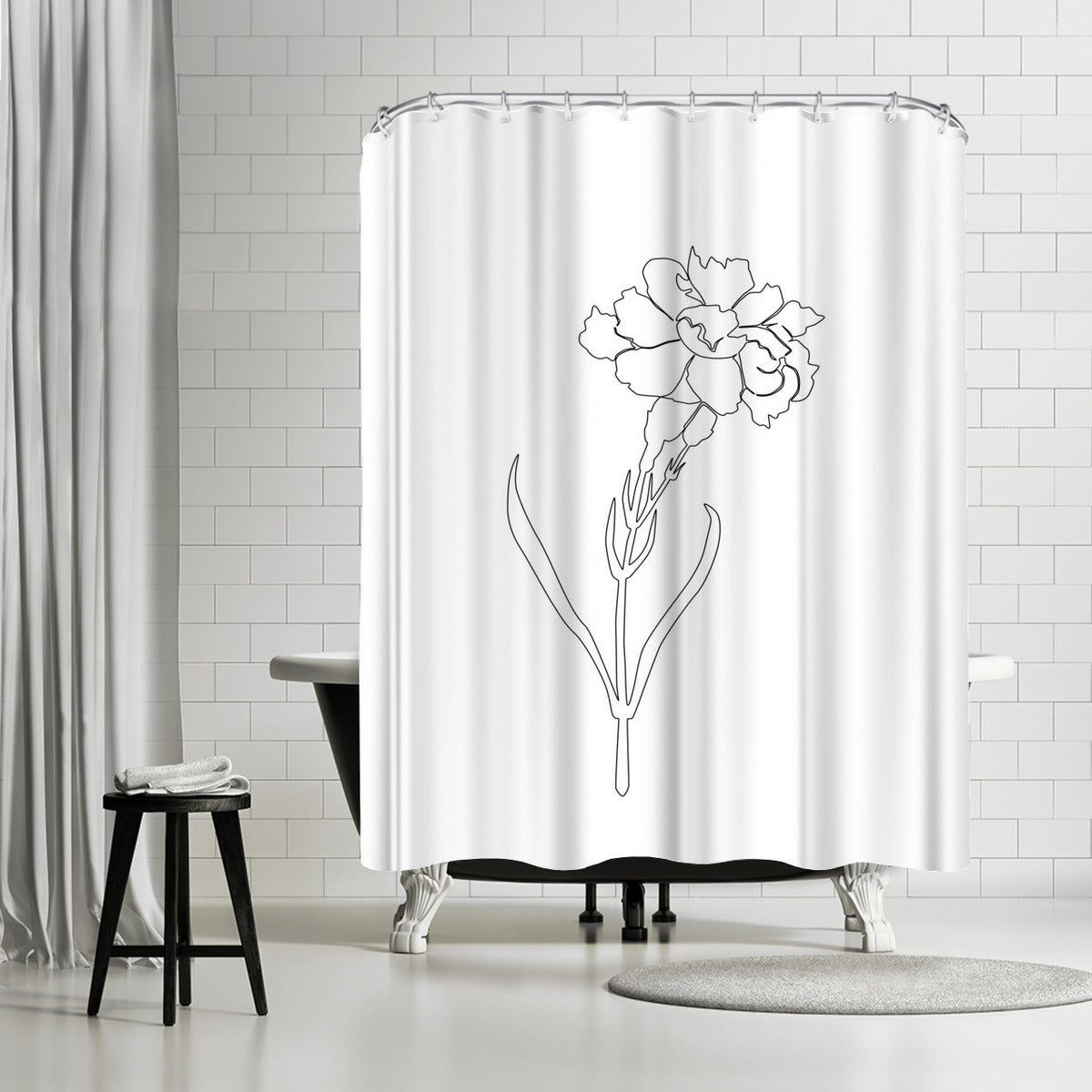 Carnation Lines by Explicit Design Shower Curtain -  - Americanflat