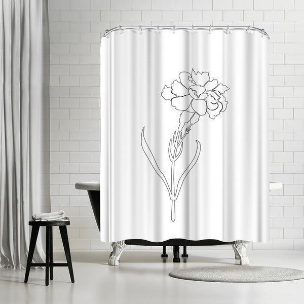Carnation Lines by Explicit Design Shower Curtain