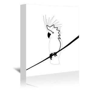 Cockatoo In Line by Explicit Design Wrapped Canvas