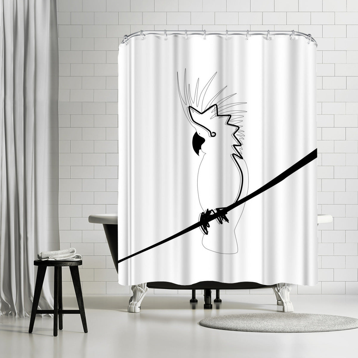 Cockatoo In Line by Explicit Design Shower Curtain -  - Americanflat