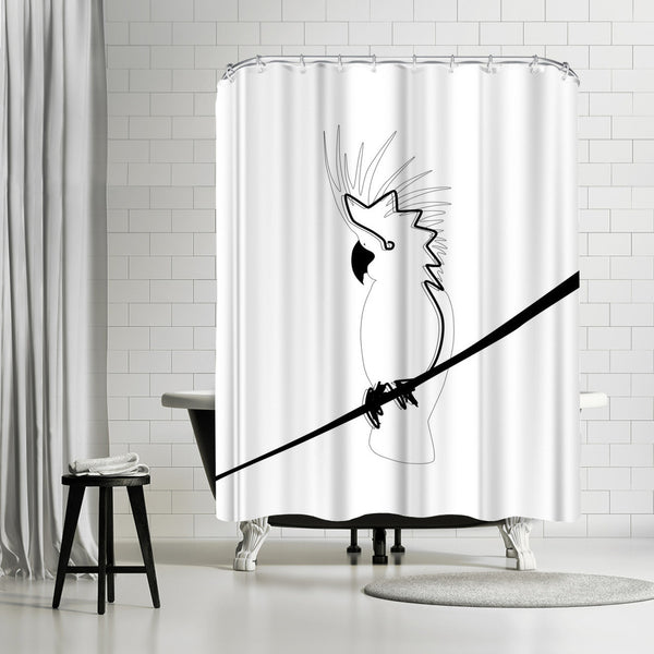 Cockatoo In Line by Explicit Design Shower Curtain
