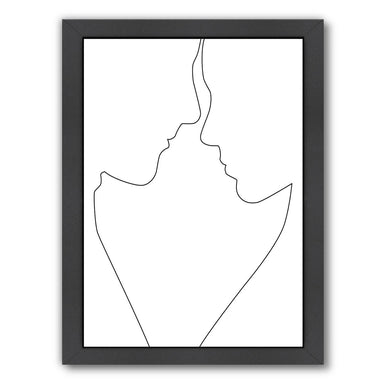 Couple Lines by Explicit Design Framed Print - Americanflat