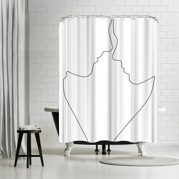 Couple Lines by Explicit Design Shower Curtain