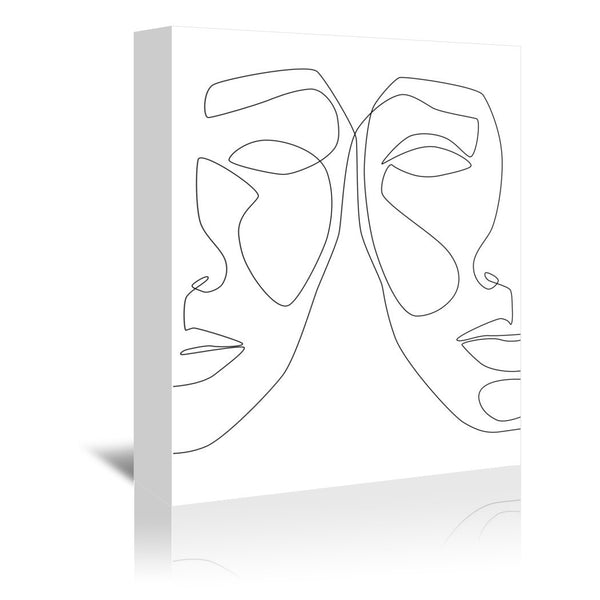 Double Face by Explicit Design Wrapped Canvas