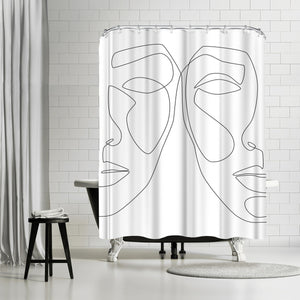 Double Face by Explicit Design Shower Curtain