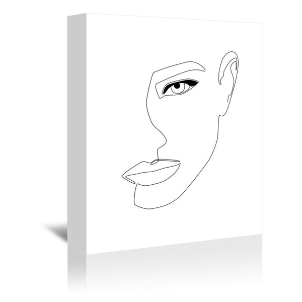 Face Shadow by Explicit Design Wrapped Canvas