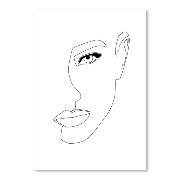 Face Shadow by Explicit Design Art Print