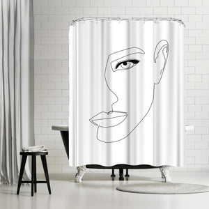 Face Shadow by Explicit Design Shower Curtain