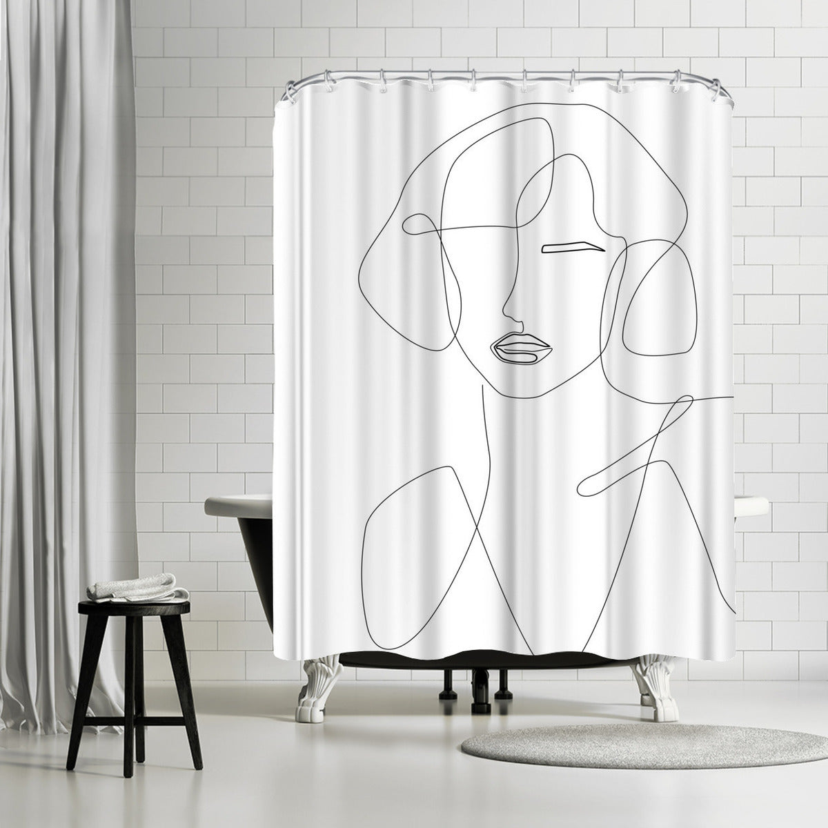 Feminine Touch by Explicit Design Shower Curtain - Shower Curtain - Americanflat
