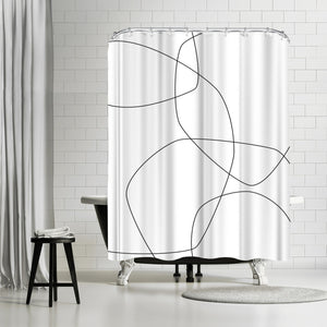 Fine by Explicit Design Shower Curtain