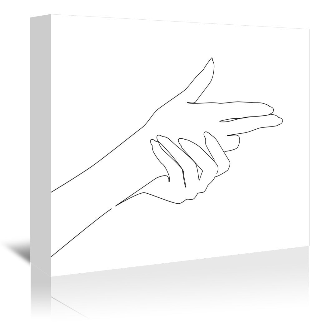 Finger Gun by Explicit Design Wrapped Canvas - Wrapped Canvas - Americanflat
