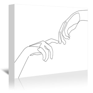 Finger Touch by Explicit Design Wrapped Canvas