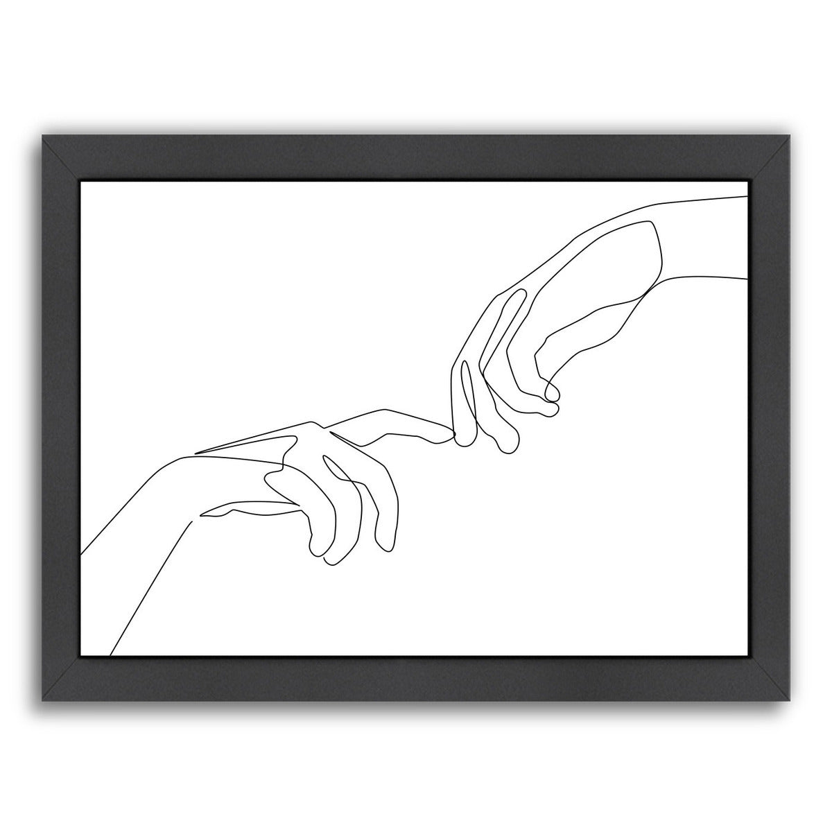 Finger Touch by Explicit Design Framed Print - Wall Art - Americanflat