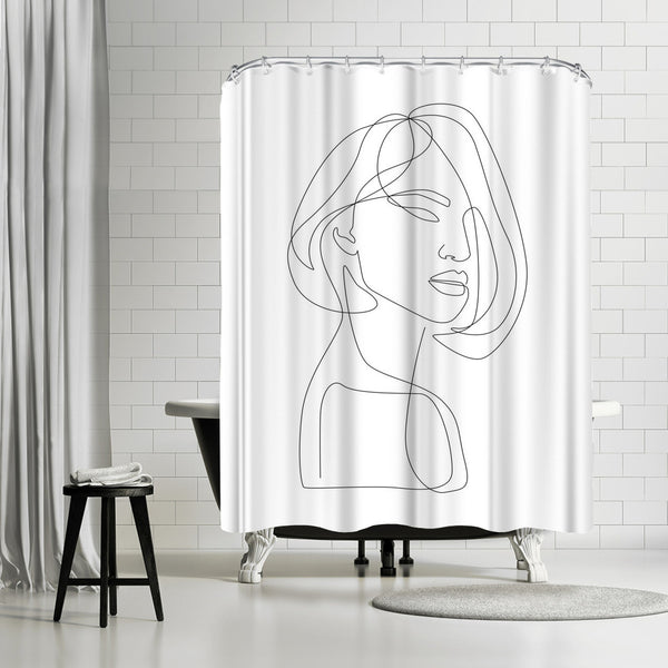 Flirty by Explicit Design Shower Curtain