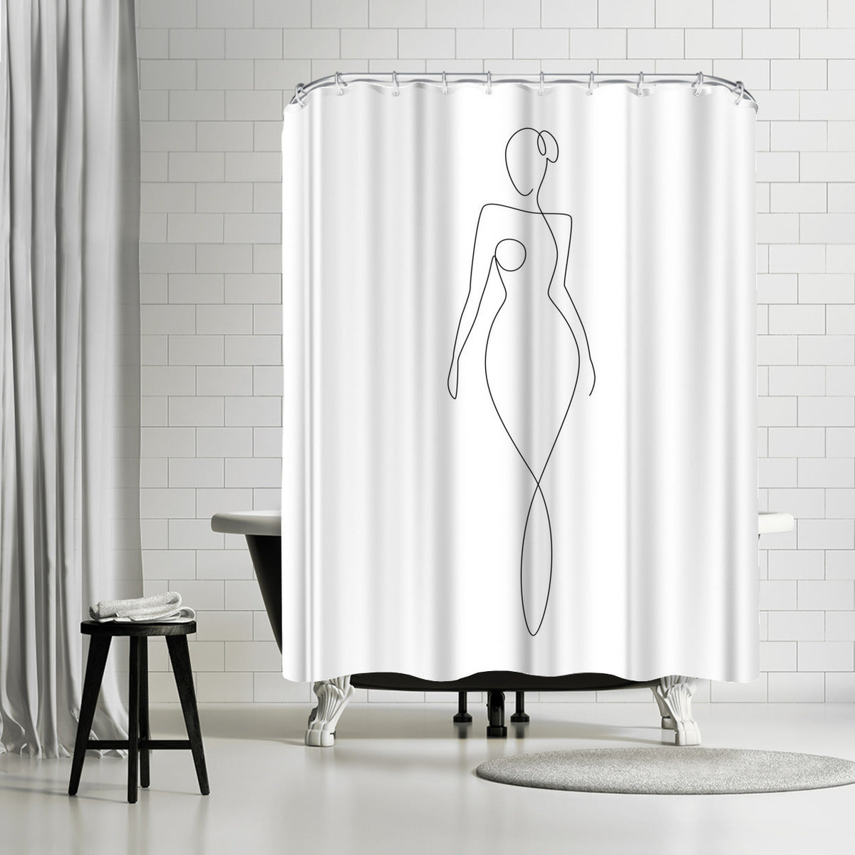 Glamorous Girl by Explicit Design Shower Curtain -  - Americanflat