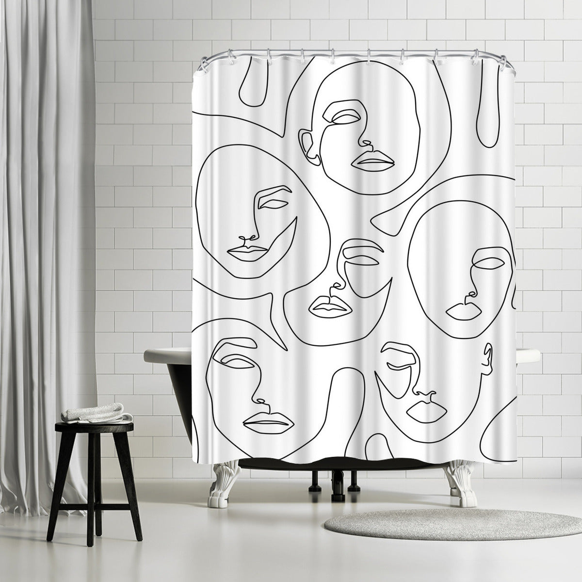 Her And Her by Explicit Design Shower Curtain - Shower Curtain - Americanflat