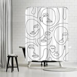 Her And Her by Explicit Design Shower Curtain