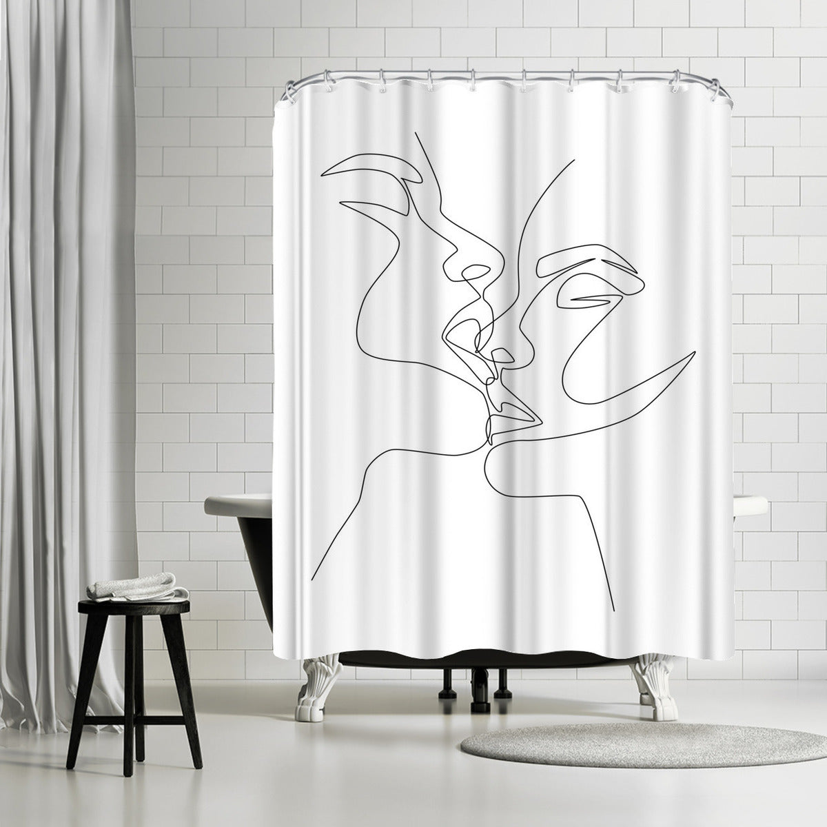 Intense & Intimate by Explicit Design Shower Curtain - Shower Curtain - Americanflat