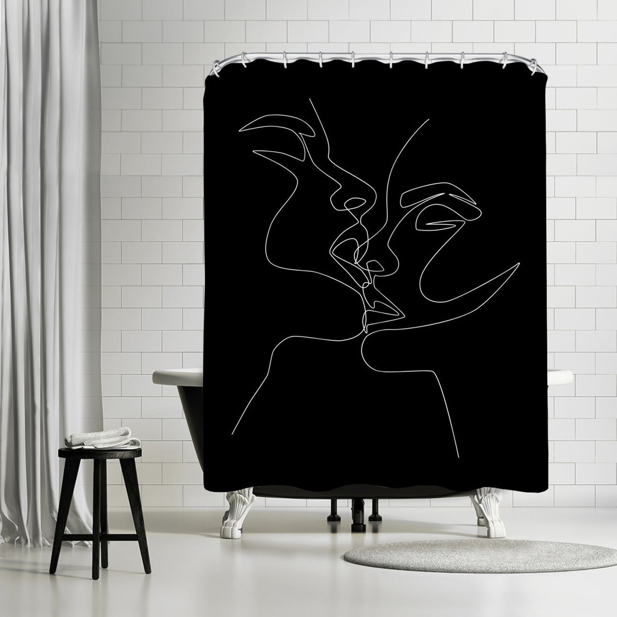 Kiss In Dark by Explicit Design Shower Curtain - Shower Curtain - Americanflat