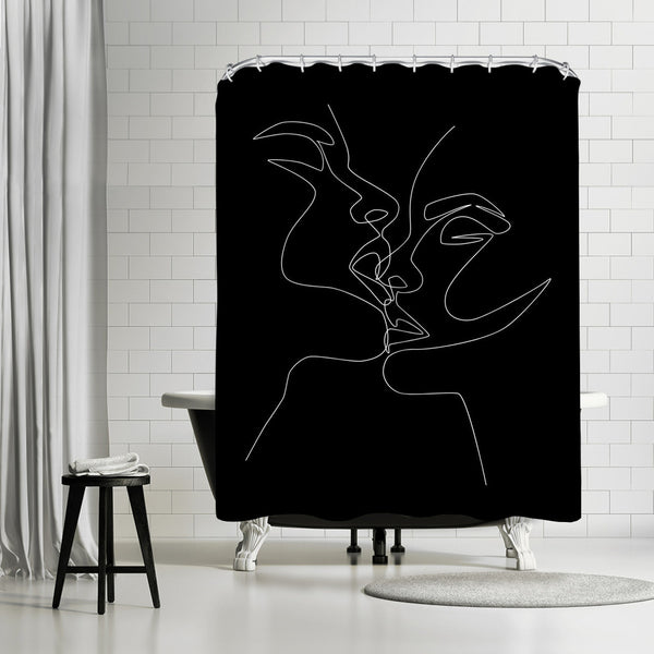 Kiss In Dark by Explicit Design Shower Curtain
