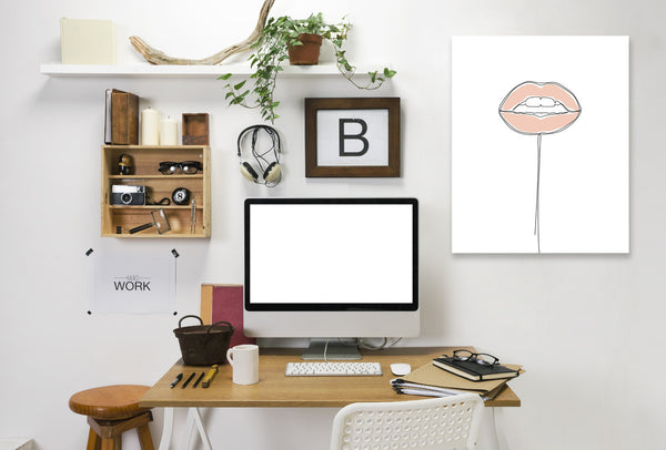 Lip Pop by Explicit Design Wrapped Canvas