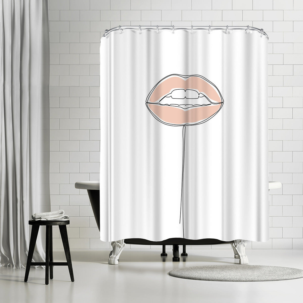 Lip Pop by Explicit Design Shower Curtain - Americanflat