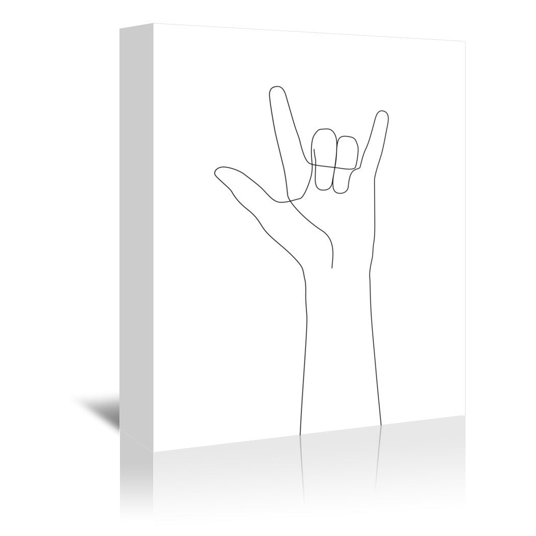 Love Hand Gesture by Explicit Design Wrapped Canvas - Wrapped Canvas - Americanflat