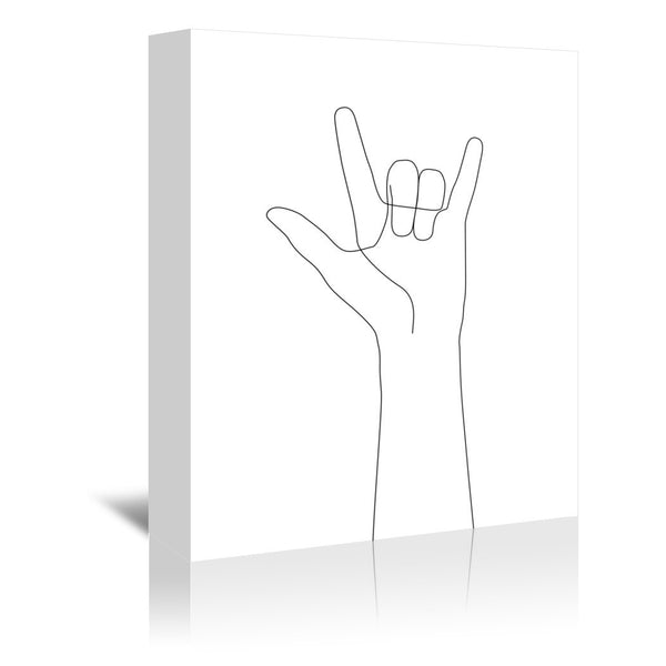 Love Hand Gesture by Explicit Design Wrapped Canvas
