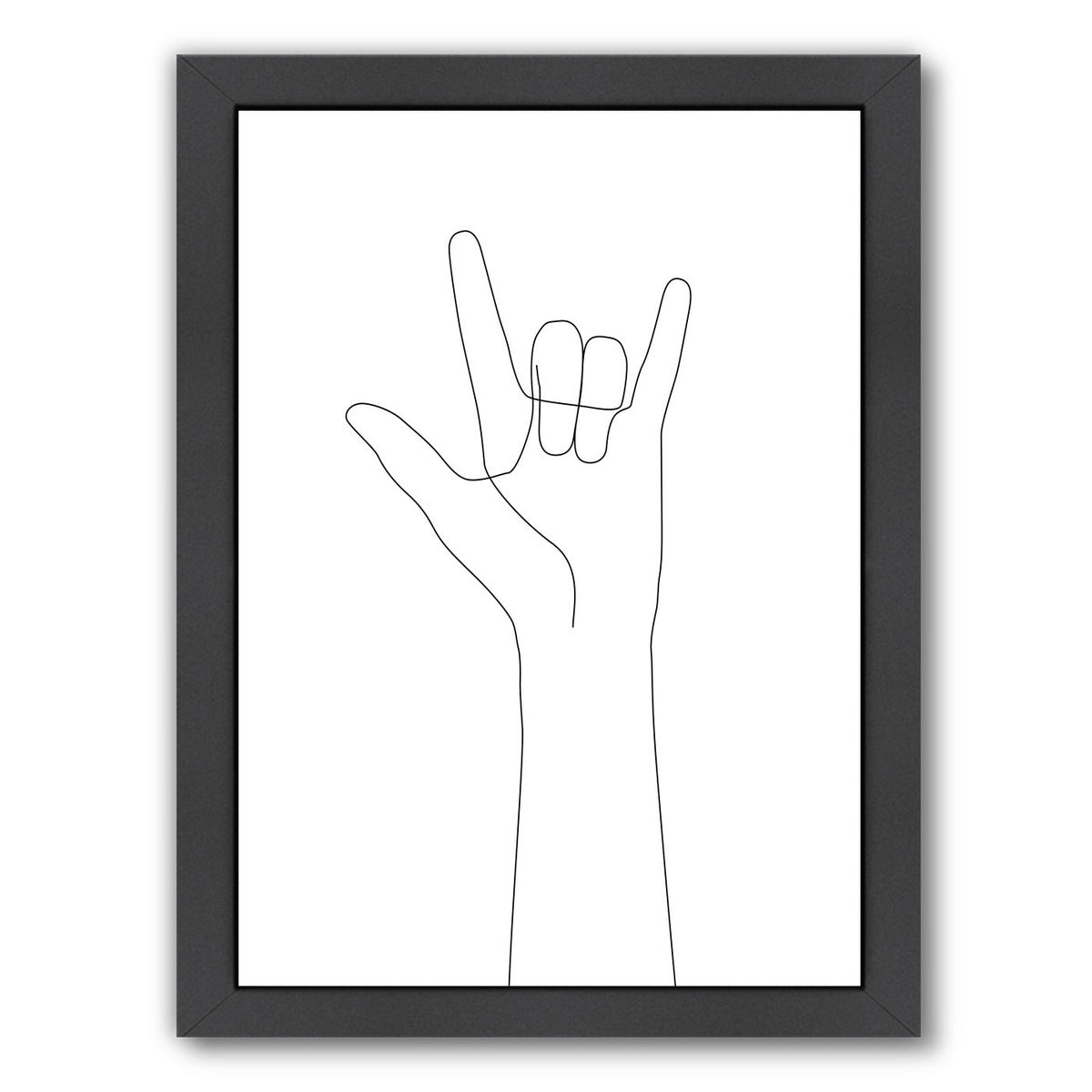 Love Hand Gesture by Explicit Design Framed Print - Americanflat