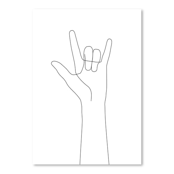 Love Hand Gesture by Explicit Design Art Print