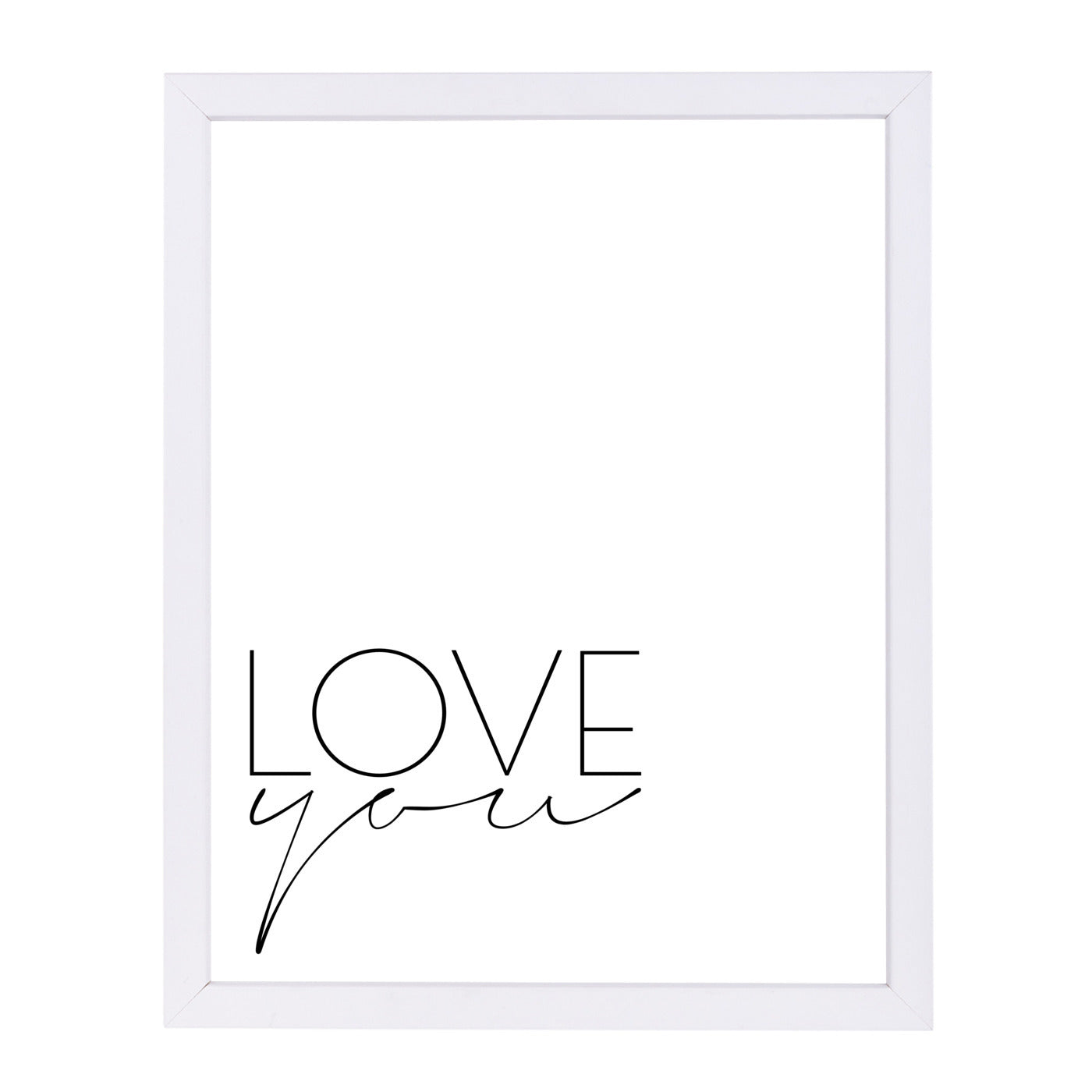 Love You by Explicit Design Framed Print - Wall Art - Americanflat